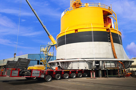 AL FARIS transport one of the biggest and heaviest buoy in the world!