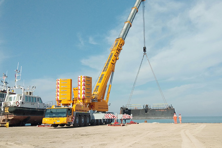 The first 450-tonne machine in the Middle East Region