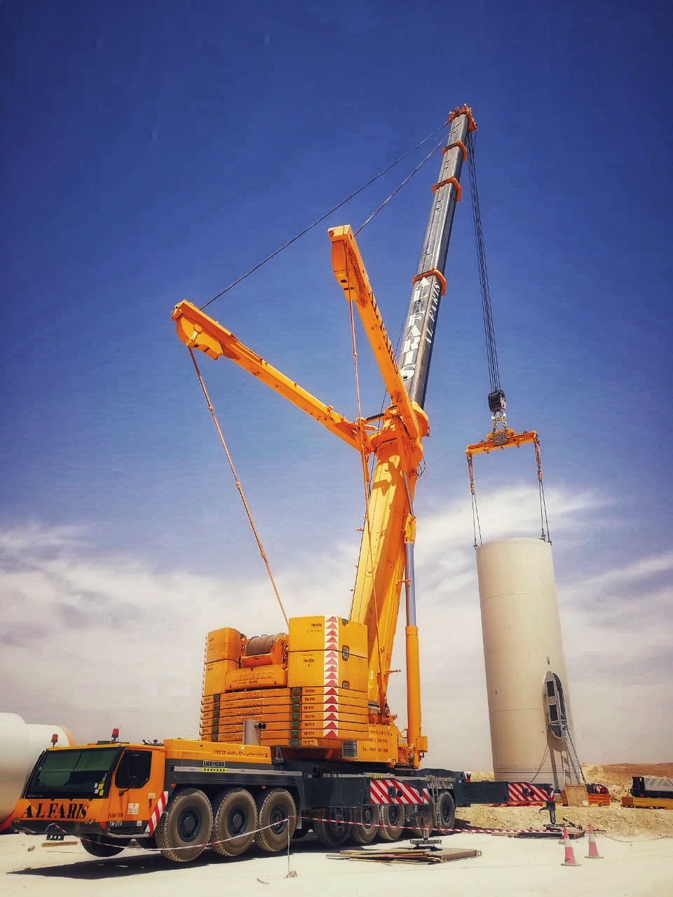 Final phase of a Wind Energy Project in Jordan.