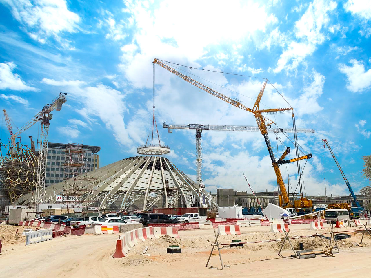 Supporting the EXPO 2020 project with our engineering and heavy lifting expertise!