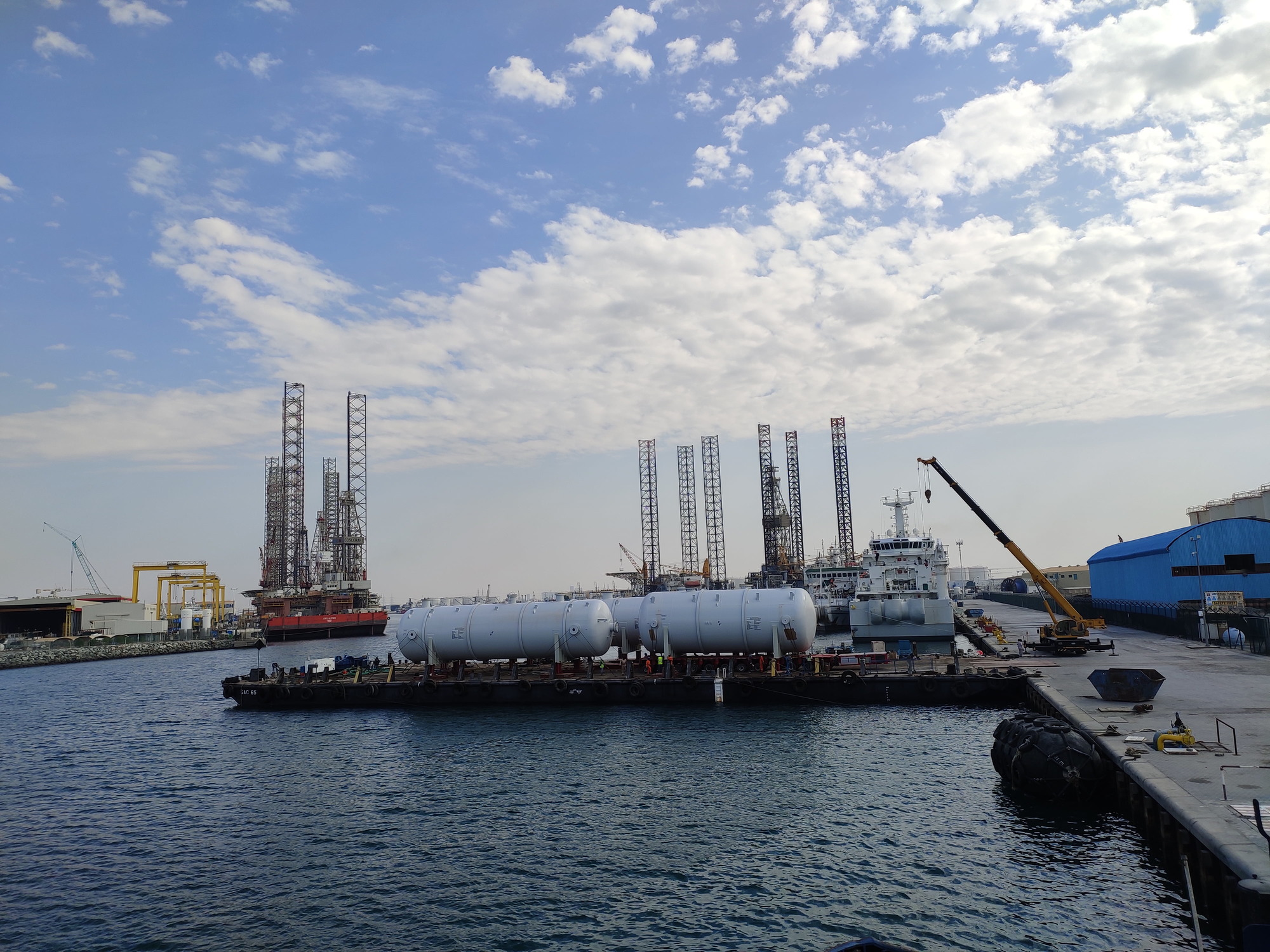 Al Faris transports 19 vessels for a crude-oil production facility in Abu Dhabi