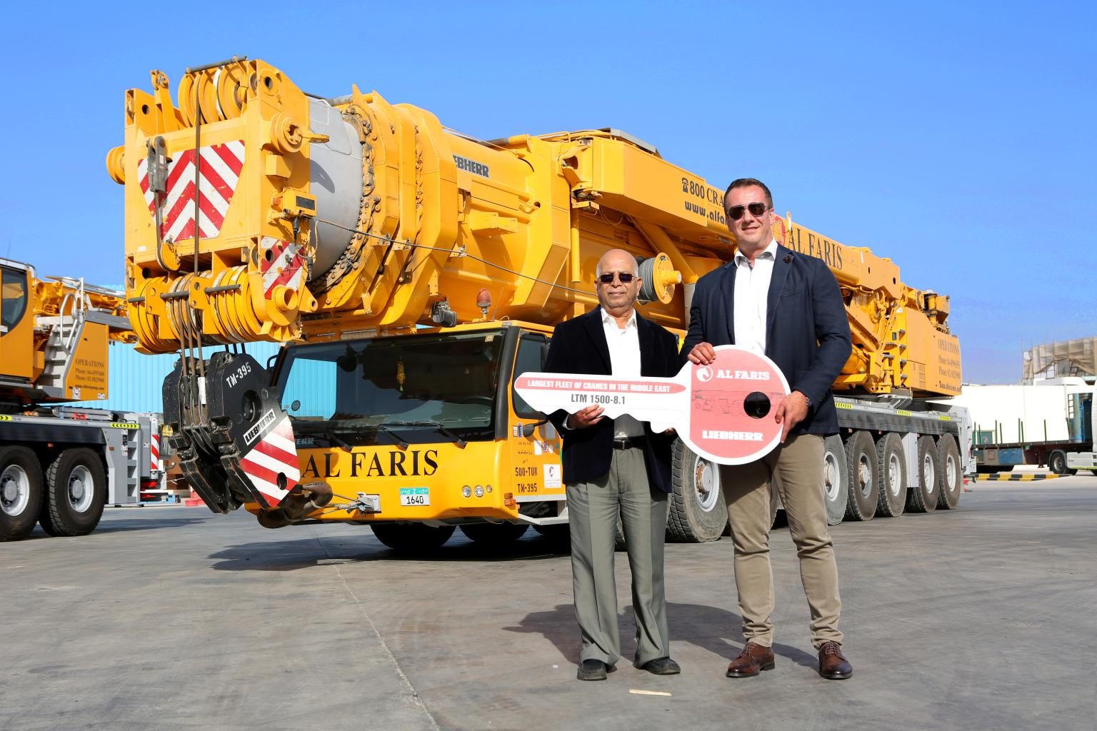 Al Faris received the last manufactured unit of the Liebherr 500t mobile crane
